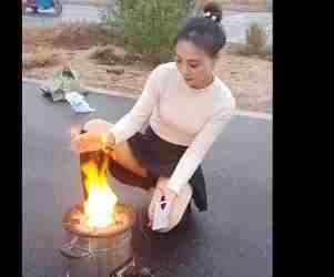 这火怎么黑色的啊
